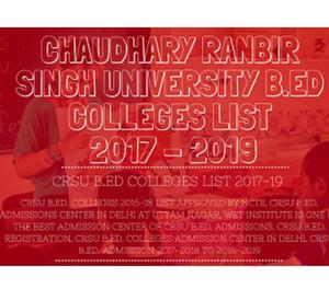 best b.ed college in india - crsu b.ed admission  New