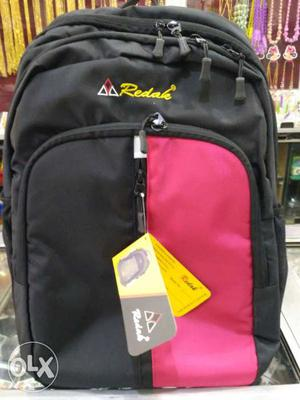 Black And Pink Redak Backpack new fresh piece