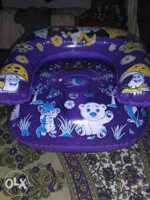 Blue Inflatable Animals Printed Floater