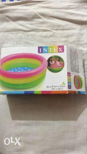 Pink,yellow And Green Intex Inflatable Pool Box