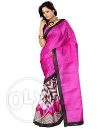 Bhagalpuri silk Saree with stitched blouse