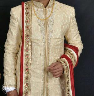 Manyawar indo western sherwani for groom