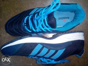 New blue sports shoes