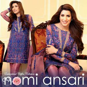 Latest embroidered chiffon Eid collection.For
