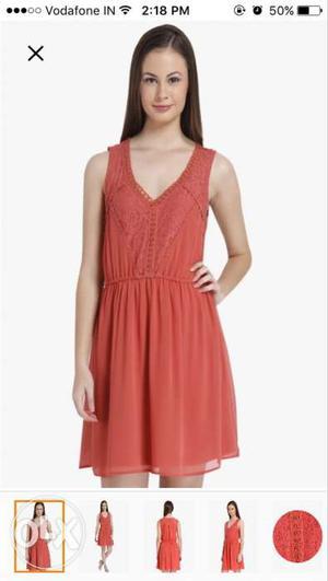 Only brand peach shift dress (not worn)