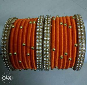 Womens silk thread bangleas party wear all sizes available.