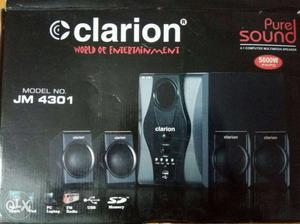 Black Clarion Pure Sound Speaker Box