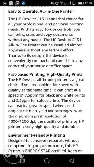 HP  all in one printer new pack