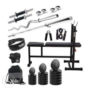Very New 70 kg Combo Convenient Gym & Fitness Kit