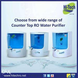 White And Blue Hi-Tech Counter Top RO Water Purifier