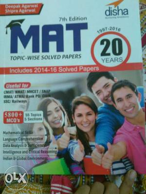 A must-have book for cracking mat exam.