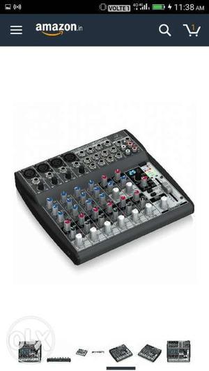 Black And Gray Audio Mixer Screenshot