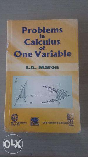Problems in Calculus of One Variable by I A Maron