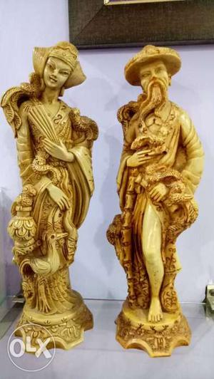 Antique Statues of Prince & Queen from era of