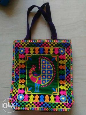 Handicraft bag. Comes in Lavender colour. Apt to