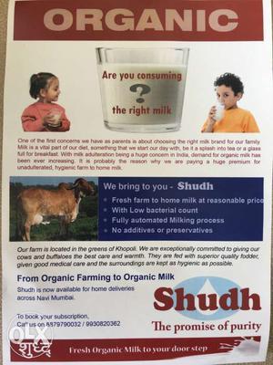 Organic milk suppliers in Navi Mumbai and Mumbai