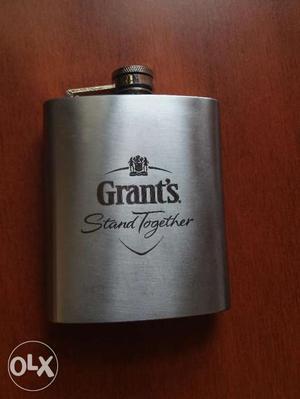Vintage Grant's Hip Flask 7 Oz Stainless Steel