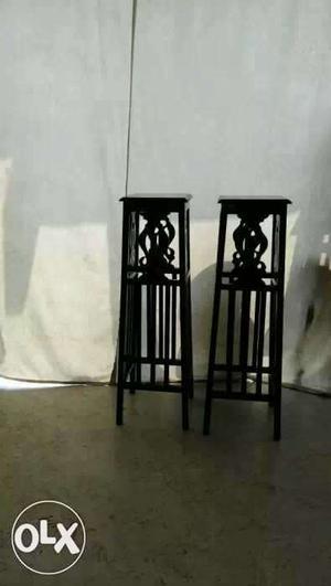 Antique very old Burma teak wood long side stools