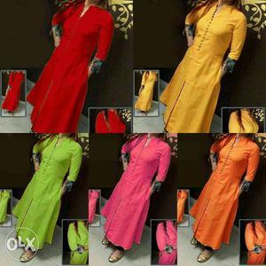 Five Assorted Color Long Dresses
