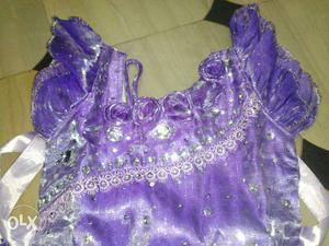 Party wear frock for 1 to 2 years girl.