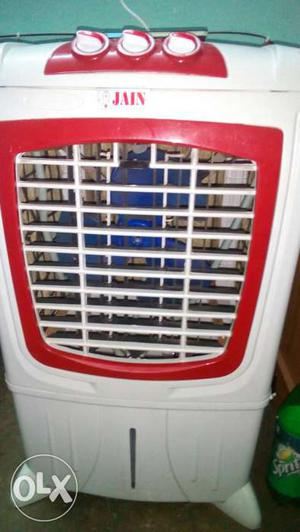 Red And White Jain Evaporative Air Cooler