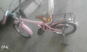 Pink Bike With Training Wheels