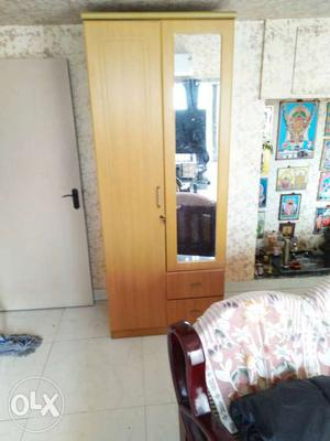 Wardrobe 2 door MDF with mirror