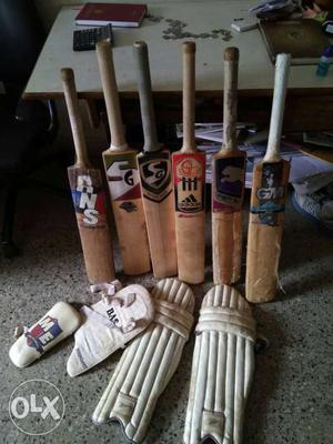 A set of 6 bats,2 bats r brand new,4 r used 5