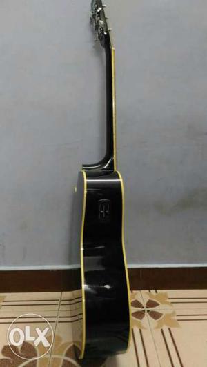 Black Electro-acoustic Guitar