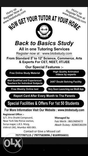 Get your tutor at your home