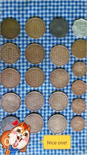 Old coins of George vi, v, vii king emperor, 1
