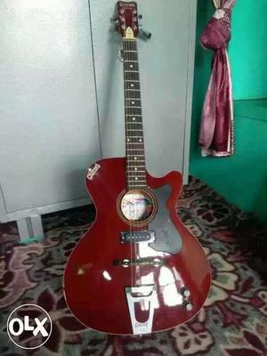 Totally new guitar with bag for sale only Rs