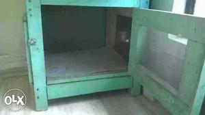 Green Wooden Chicken Coop