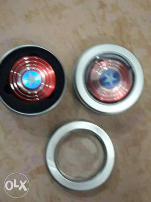 Two Captain America Hand Spinners