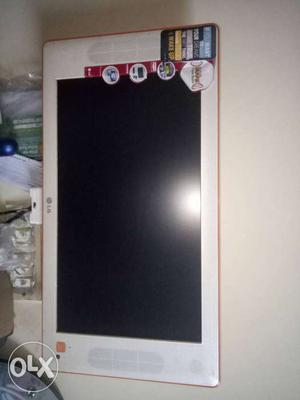 White LG Flat Screen TV