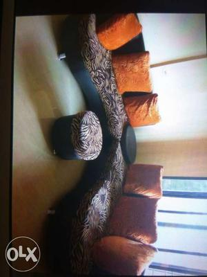 Attractive 3X3 leather sofa set along with 6 big