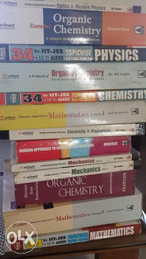 Essential books for IIT JEE worth over rs. in