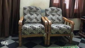 Sofa set with cover one sofa 2 chairs for sale