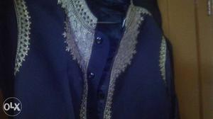 Blue And Grey sherwani with good embroidery,for special