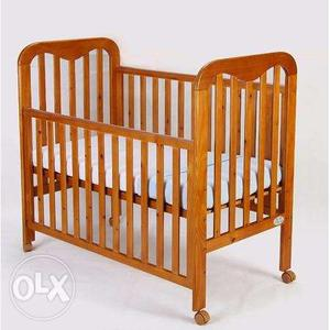 Mom Me Baby Crib Cot With Mattress