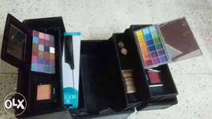 Professional makeup box with professional makeup