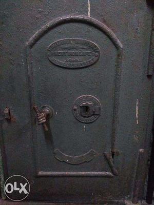 Vintage Iron Safe Up For Sale