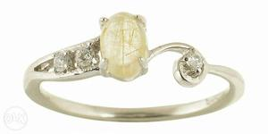 925 Sterling Silver with semi precious stone