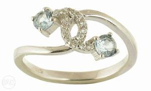 925 Sterling Silver with semi precious stone (