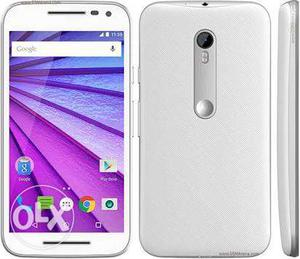 Moto g3 good condition with box charger bill 6