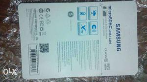 New HC I Samsung Evo 128 GB memmory card Not Not