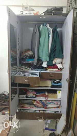 2 door wardrobe with high quality plywood and