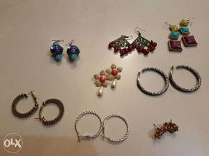 8 pairs of beautiful earrings available for sale