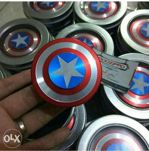 Captain America Shield Fidget Hand Spinner Lot