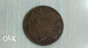 One Quarter Anna  good Conditioned coin for sale
